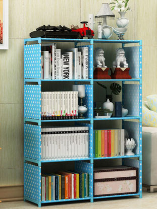 Picture of Simple Shelf Students Assemble Bookcase Multi-function Storage Shelf-Size: One Size