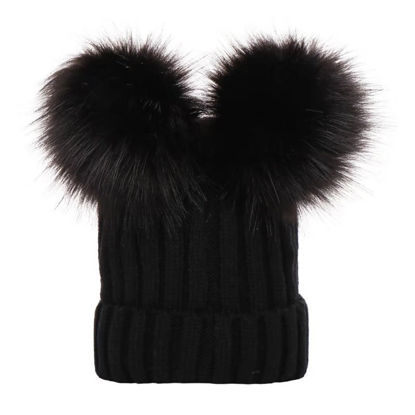 Picture of Women's Beanie All Match Warm Knitted Pompons HatSize: One Size