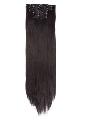 """Picture of 6Pcs/Set 22"""" Hairpiece Straight 16 Clips Synthetic Hair Extension-Size: 22 inch"""