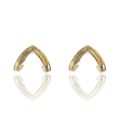 Picture of Women's Studs Stylish V-shape All Match Earrings Accessory-Size: One Size