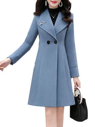 Picture of Women's Trench Coat Slim Long Sleeve Buttons Outerwear