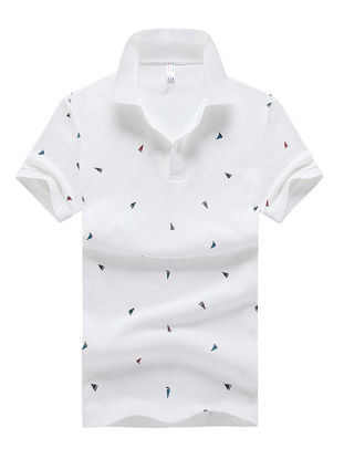 Picture of Men's Polo Shirt Comforty Casual Chic Design Short Sleeve Polo Shirt-Size: L