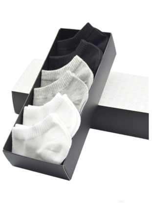 Picture of Men's 6 Pairs Ankle Socks All Match Solid Color Casual Socks-Size: One Size