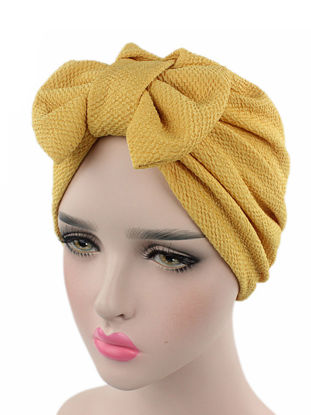 Picture of Women's Fedoras Bow Decoration Solid Color Personalized Fashion Hat AccessorySize: One Size