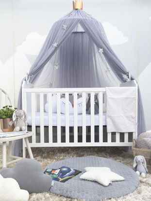 Picture of Kid's Room Decorative Bed Tent Princess Style Solid Round Mosquito Net-Size: One Size