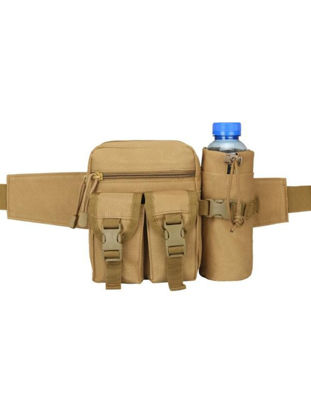 Picture of Men's Travel Bag Tactical Style Hiking Water Bottle Slot Design Belt Waist Pouch BagSize: One Size