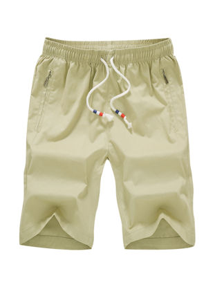 Picture of Men's Casual Shorts Elastic Drawstring Waist Brief Design Plus Size Shorts-Size: 3XL