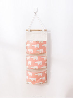 Picture of 1Pc Home Hanging Bag Cartoon Flamingos Pattern Multi-layer Storage Bag-Size: One Size