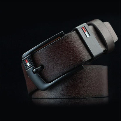 Picture of Men's Belt Pin Buckle Solid Color Casual Accessory-Size: One Size
