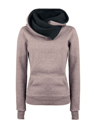 Picture of Women's Hoodie Casual Hooded Patchwork Pocket Long Sleeve Hoodie-Size: XXL
