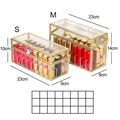 Picture of 1 Piece Cosmetic Box 24 Grids Transparent Large Capacity Simple Cosmetic Box-Size: M
