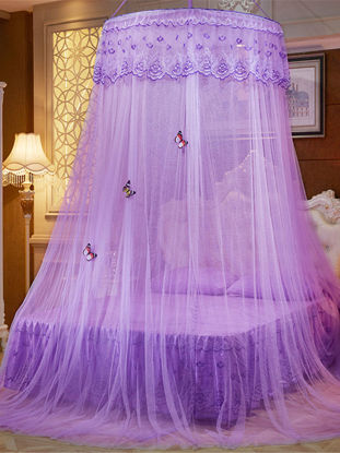 Picture of 1Pc Home Bed-curtain Solid Court Style Round Top Decorative Universal Mosquito Net-