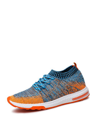 Picture of Men's Running Shoes Damping Comfy Skidproof Low Cut Flyknit Air Cushion Shoes-Size: 44