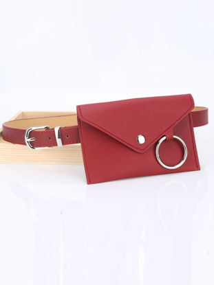 Picture of Women's Jeans Belt Stylish Solid Color With A Mini Waist Bag Accessory-Size: One Size