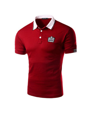 Picture of Men's Polo Shirt Turn Down Collar Brief Leisure Slim Short Sleeve Polo Shirt - Size: L