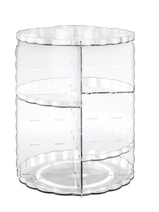 Picture of Storage Rack 360 Degrees Rotated Flower Side Transparent Makeup Shelf