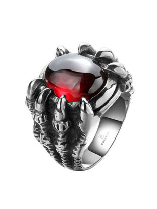 Picture of Men's Ring High Polished Rhinestone Titanium Steel Ring Accessory - Size: 9
