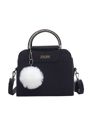 Picture of Women's Handbag Cute Solid Color Fluffy Ball Pendant Stylish Bag - Size: One Size