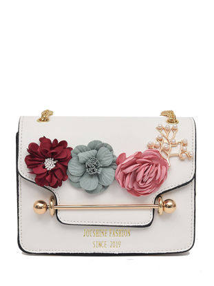 Picture of Women's Crossbody Bag Sweet Flower Decorative Trendy Chain Bag - Size: Free