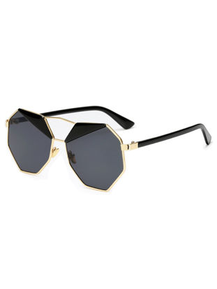 Picture of Men's Sunglasses Polygon Shape Design Fashion Travel Cycling Glasses Accessory - Size: One Size