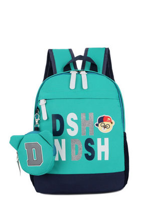 Picture of Kid's Backpack With Coin Purse Cartoon Pattern Schoolbag - Size: One Size