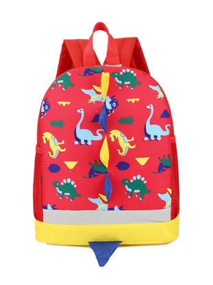 Picture of Kid's Fashion Backpack Stylish Dinosaur Design Comfy Zipper Bag - Size: One Size