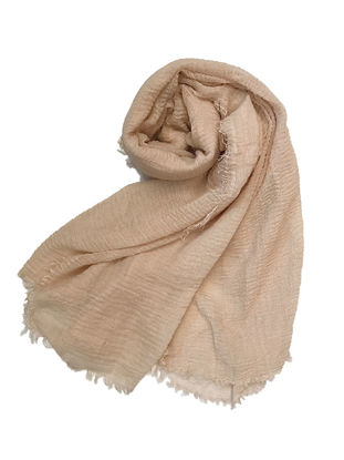 Picture of Women's Hijab Wrinkled Solid Color Lightweight All Match Fashion Scarf Accessory - Size: Free