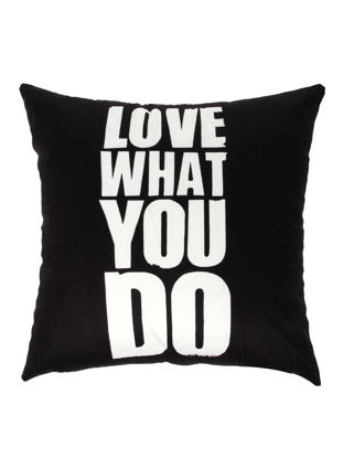 Picture of Decorative Pillowcase Modern Simple English Letters Pattern Soft Cushion Cover - Size: 45*45(W*L)cm