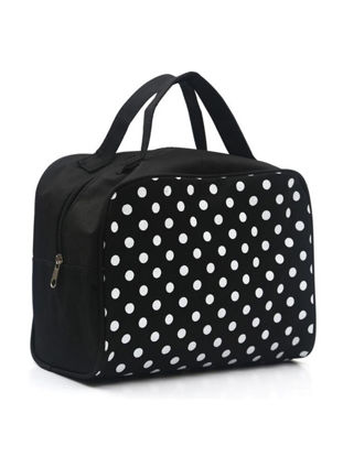 Picture of Makeup Bag Fashion Polka Dots Waterproof Cosmetic Storage Bag