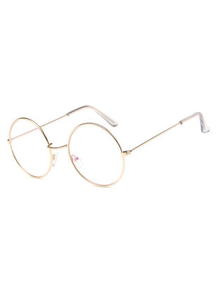 Picture of Women's Eyeglasses Preppy Style Casual Round Frame All Match Chic Glasses Accessory - Size: One Size