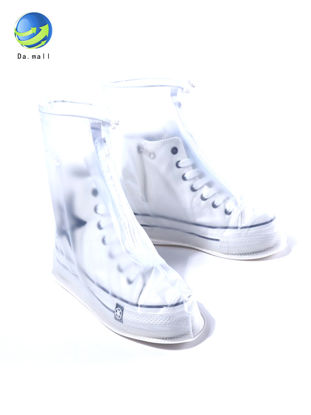Picture of Rainy Waterproof Thickened Non-Slip Rain Cover Semi-transparent Rainshoes - Size: 41