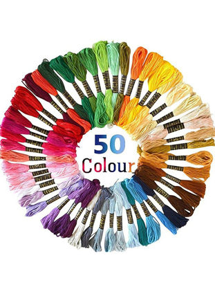 Picture of Cross Stitch Threads Crafts 50Skeins Cross-Stitching Sewing Thread Kit