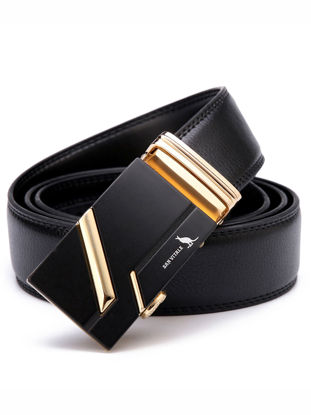 Picture of SAN VITALE Men's Belt Alloy Buckle All Matched Fashion PU Belt Accessory - Size: 125cm