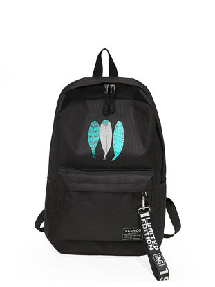 Picture of Women's Backpack Simple Casual Preppy Large Capacity Stylish Bag - Size: One Size
