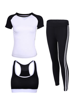 Picture of XLGS Women's Sports Set 3 Pcs Cozy Brief T Shirt Women's Sports Clothing - Size: L