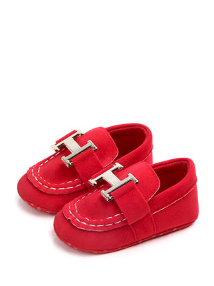 Picture of Baby's Pre-Walker Shoes Solid Color H Letter Pattern Toddler Shoes - Size: 11cm