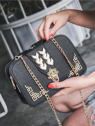 Picture of Women's Crossbody Bag Fashion Sweet Ladylike Multi Layers Trendy Chain Bag - Size: One Size