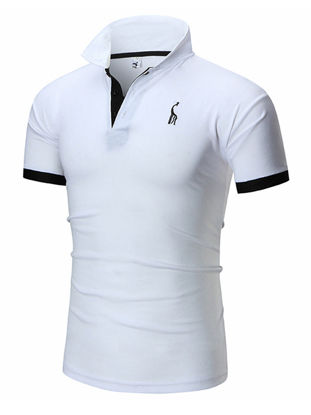 Picture of Men's Polo Shirt Business Turn Down Collar Plus Size Gentle Comfy All Match Breathable Top - Size: XXL