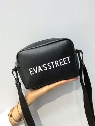 Picture of Women's Crossbody Bag Square Shape Letter Pattern Trendy Bag - Size: One Size