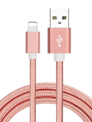 Picture of Nylon Braided Wire Metal Lightning To USB Cable Quick Charge Sync Data Cable For iPhone