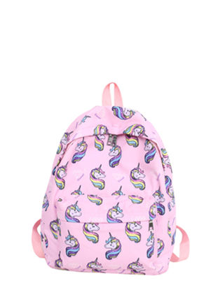 Picture of Kid's Backpack Cute Cartoon Unicorn Pattern Fashion Bag - Size: One Size