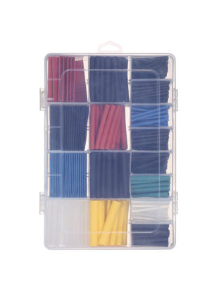 Picture of 580 Pcs Heat Shrink Tubing Set Multi-Color Halogen-Free Tube Sleeve Wrap Wire Set