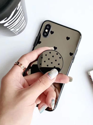 Picture of iPhone Case With Air Bag Holder Stylish Jelly Mirror Cover - Size: IPHONE 7Plus