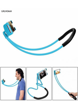 Picture of Mobile Phone Hanging Neck Support 360 Degree Rotary Multi-Functional Phone Stand