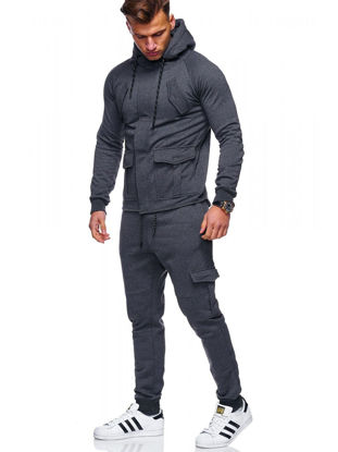Picture of 2 Pcs Men's Pants Set Sports Quick Drying Anti-Friction Comfy All Match Leisure Classic Set - Size: XXL