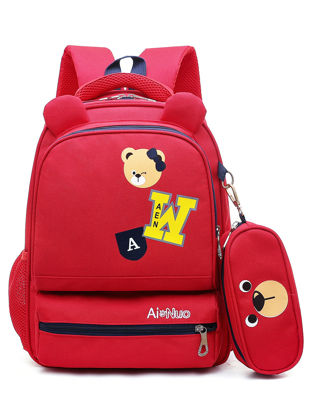 Picture of Kid's Backpack Large Capacity Durable Comfortable Fashion Boy'sSchoolBag - Size: One Size