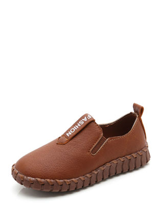 Picture of Kid's Casual Shoes Simple Retro Style Round Toe Anti-slip Low Soft Shoes - Size: 36