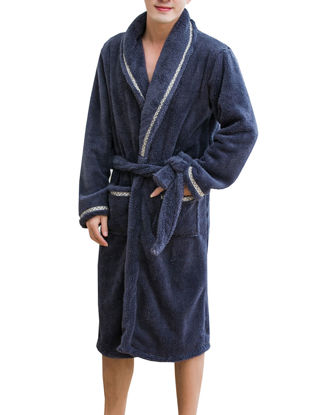 Picture of Men's Robe Comfy Top Fashion Loose Breathable Cardigan Pajama - Size: XL