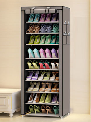 Picture of 1 Pc Shoes Cabinet Simple Easy Install Dust Proof Shoes Storage Rack - Size: One Size