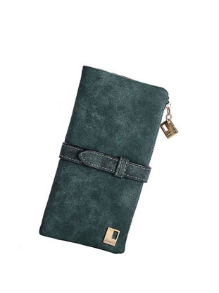 Picture of Women's Purse Solid Color Dull Polish Long Style Versatile Lady Wallet - Size: One Size